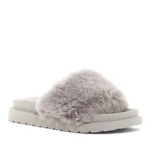 Sam Edelman Blaire Faux Fur Platform Slide Sandal
